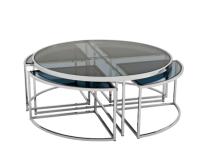 Casa Padrino Art Deco Luxus Couchtisch - Wohnzimmer Salon Tisch - Luxus Qualität