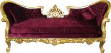 "Casa Padrino Barock Sofa "" Vampire"" Bordeaux/Gold - Limited Edition"