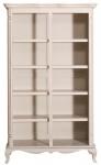 Casa Padrino Landhausstil Bücherschrank Antik Hellgrau 112 x 49 x H. 190 cm - Wohnzimmerschrank im Shabby Chic Look
