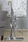 Casa Padrino Designer Luxus Schirmständer aus Aluminium H 53, B 39 cm - romantischer Schirmständer
