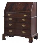 Casa Padrino Luxus Schreibkommode mit 12 Schubladen Dunkelbraun 77 x 44 x H. 102 cm - Luxus Möbel
