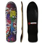 Koston Oldschool Skateboard / Longboard Deck Two Faces 32.8 x 8.75 inch DE313 inkl. Griptape