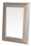 Casa Padrino Designer Spiegel mit cremefarbigen Cobra Druck 85 x H. 115 cm - Luxus Wohnzimmer Wandspiegel