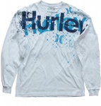 Hurley Skateboard Langarm T-Shirt Facet Sky Blue