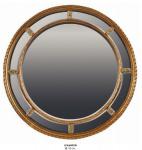 Casa Padrino Barock Wandspiegel Rund Gold Durchmesser 110 cm - Edel & Prunkvoll - Goldener Spiegel