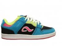 Adio Skateboard Schuhe Monroe Black/Blue/Pink Sneakers shoes