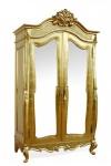 Casa Padrino Barock Kleiderschrank Gold B 107 x H 229 cm Schlafzimmer Schrank