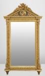 Casa Padrino Barock Wand Spiegel Gold H 204 cm B 113 cm - Edel & Prunkvoll