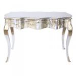 Casa Padrino Barock Schreibtisch Sekretär / Konsole Silber 120 x 60 x H80 cm - Luxus Möbel