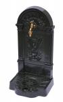 Casa Padrino Jugendstil Standbrunnen Außen Wasserhahn Dunkelgrün H 85 cm inkl Messing Wasserhahn - Antik Stil Aussenbrunnen aus Gussaluminium