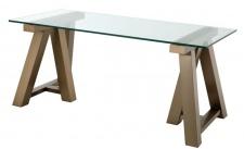 Casa Padrino Luxus Schreibtisch Messing 180 x 80 x H. 78 cm - Luxus Büromöbel