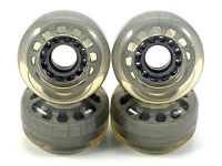 Koston Blank Longboard Wheels Clear 70mm/78a (4 Rollen) - Skateboard Cruiser Wheel Set