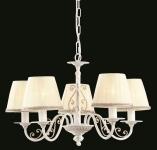 Casa Padrino Barock Decken Kronleuchter Weiß Gold 57 x H 35 cm Antik Stil - Möbel Lüster Leuchter Hängeleuchte Hängelampe
