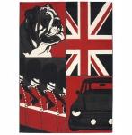 Casa Padrino Designer Teppich 160 x 220 cm Union Jack Bulldog - Läufer