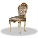 Casa Padrino Barock Esszimmerstuhl Creme Gold Silber - Antik Stil Möbel
