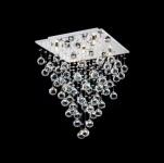 Casa Padrino Barock Decken Kristall Kronleuchter Nickel 40 x H 54 cm Antik Stil - Möbel Lüster Leuchter Hängeleuchte Hängelampe
