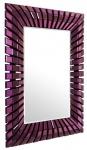Casa Padrino Designer Spiegel Lila 90 x H. 120 cm - Wohnzimmer Wandspiegel