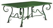 Casa Padrino Gartentisch aus Schmiedeeisen - verschiedene Farben - 120 cm x 70 cm x H45 cm - Luxus Gartenmöbel
