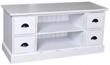 Casa Padrino Landhausstil Sideboard Antik Stil Weiß 129 x 50 x H. 60 cm - Landhausstil Fernsehschrank