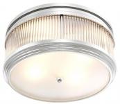 Casa Padrino Luxus Deckenleuchte Silber Ø 40, 5 x H. 18, 5 cm - Runde Deckenlampe