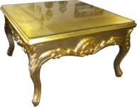 Casa Padrino Barock Beistelltisch Gold - Couch Tisch - Wohnzimmer Tisch - Couchtisch