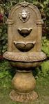Casa Padrino Barock Wandbrunnen Löwe 45 x H. 103 cm - Kunststein Gartenbrunnen im Barockstil