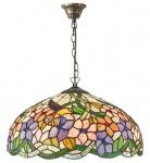 Casa Padrino Tiffany Hängeleuchte Mehrfarbig Ø 40 x H. 82 cm - Luxus Qualität