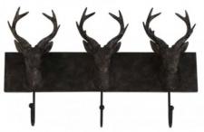 Casa Padrino Designer Garderobe mit 3 Haken - Luxus Wandgarderobe