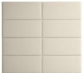 Casa Padrino Designer Bett-Kopfteil Elfenbein 200 x H. 180 cm - Luxus Möbel