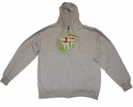 Fallen Skateboard Hoodie Zip Grey Sweater