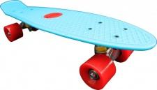 Koston Oldschool Skateboard Plastic Cruiser 70s Style Blue/Red - 22 x 6.0 inch - Plastik Vinyl Skateboard