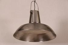 Casa Padrino Vintage Industrie Hängeleuchte Antik Stil Nickelfarig Metall - Restaurant - Hotel Lampe Leuchte - Industrial Leuchte