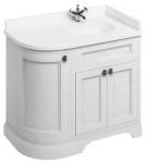 Casa Padrino Waschschrank mit Marmorplatte und 3 Türen - Jugendstil Waschtisch