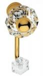 Casa Padrino Luxus Kleiderhaken Set Gold 5 x 12 cm - Messing Kleiderhaken mit Swarovski Kristallglas