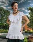 Beatrix Peasant Piraten Mittelalter Bluse - White