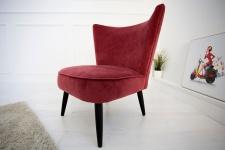 Casa Padrino 60er Jahre Retro Salon Sessel Rot - Cocktailsessel Jahre 1960´s Sixties
