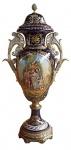 Casa Padrino Luxus Barock Porzellan Vase mit Deckel H. 126 cm - Limited Edition
