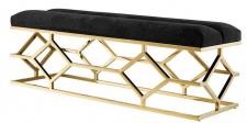 Casa Padrino Luxus Sitzbank Gold 140 x 45 x H. 48 cm - Wohnzimmer Designermöbel