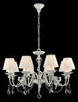 Casa Padrino Barock Kristall Decken Kronleuchter Silber 76 x H 51 cm Antik Stil - Möbel Lüster Leuchter Hängeleuchte Hängelampe