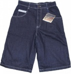 2Pac Skateboard Herren Jeans Shorts Old English Shorts Dark Blue