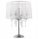 Casa Padrino Barock Hockerleuchte mit Kristall-Deco, 4-Flammig, Weiß, nostalgische Tischleuchte, Leuchte Lampe