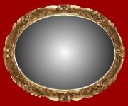 Casa Padrino Barock Wandspiegel aus Italien Gold Oval B 101 cm, H 81 cm - Edel & Prunkvoll