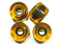 Koston Blank Longboard Wheels 76mm / 82a Clear Yellow - Longboard Cruiser Wheel Set (4 Rollen)