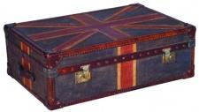 Casa Padrino Luxus Truhe Union Jack 90 x 60 x H. 30 cm - Wohnzimmer Couchtisch in Kofferoptik