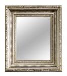 Casa Padrino Barock Spiegel Silber 32 x H. 37 cm - Wohnzimmer Accessoires im Barockstil