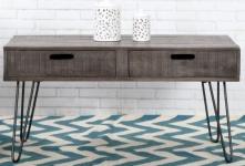 Casa Padrino Designer Beistelltisch Mango Grau 100cm - Massivholz