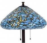 Casa Padrino Luxus Tiffany Stehleuchte Schmetterlinge Blau / Mehrfarbig Ø 50 x H. 160 cm - Handgefertigte Stehlampe