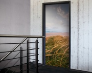 Tür 2.0 XXL Wallpaper für Türen 20028 Sylt - selbstklebend- Blickfang für Ihr zu Hause - Tür Aufkleber Tapete Fototapete FotoTür 2.0 XXL Vintage Antik Stil Retro Wallpaper Fototapete