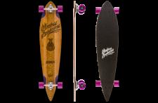 Mindless Voodoo Complete Longboard Lakota Pintail - Profi Bamboo / Maple Longboard - 44.0 x 9.75 inch mit Koston Kugellagern