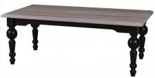 Casa Padrino Landhausstil Couchtisch mit Eichenholz Tischplatte 120 x 65 x H. 45 cm - Luxus Qualität
